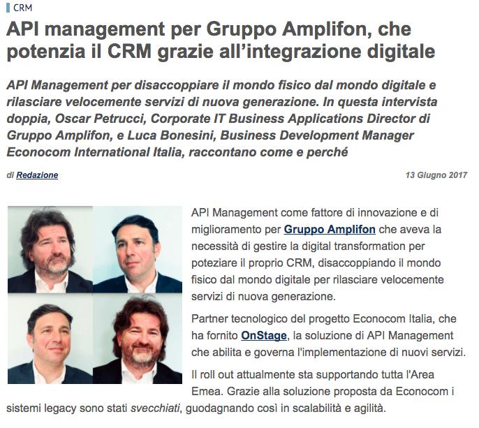 API Management Amplifon