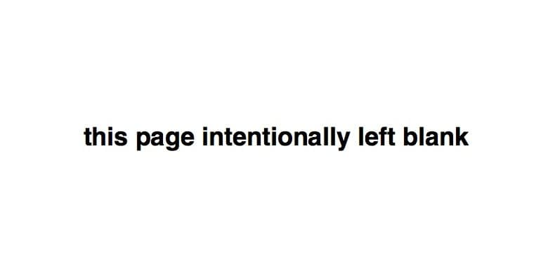 page intentionally left blank