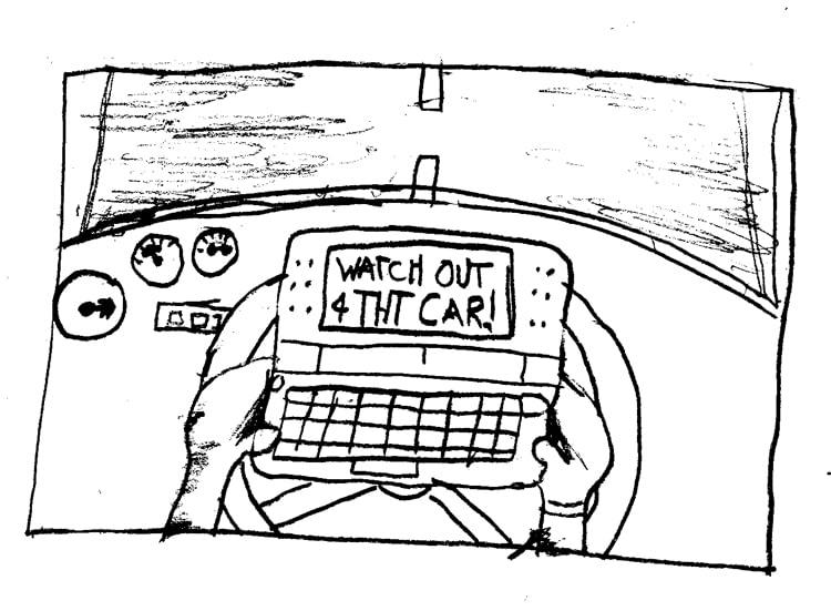 texting cartoon